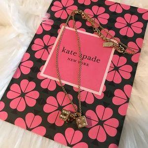Kate Spade Lucky Streak Dice Necklace